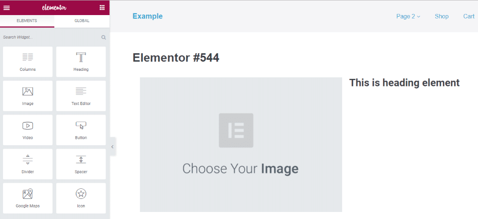 Voorbeeld van een WordPress-paginabouwer