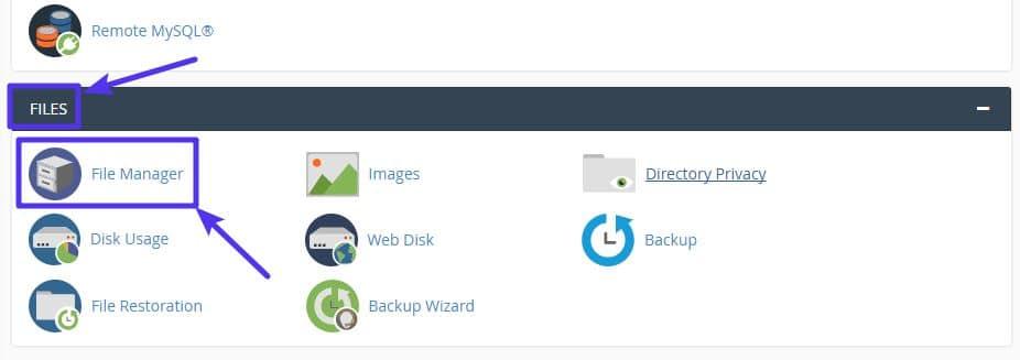 Toegang krijgen tot de cPanel File Manager