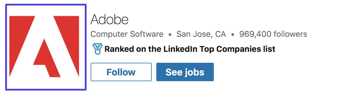Adobe LinkedIn logo