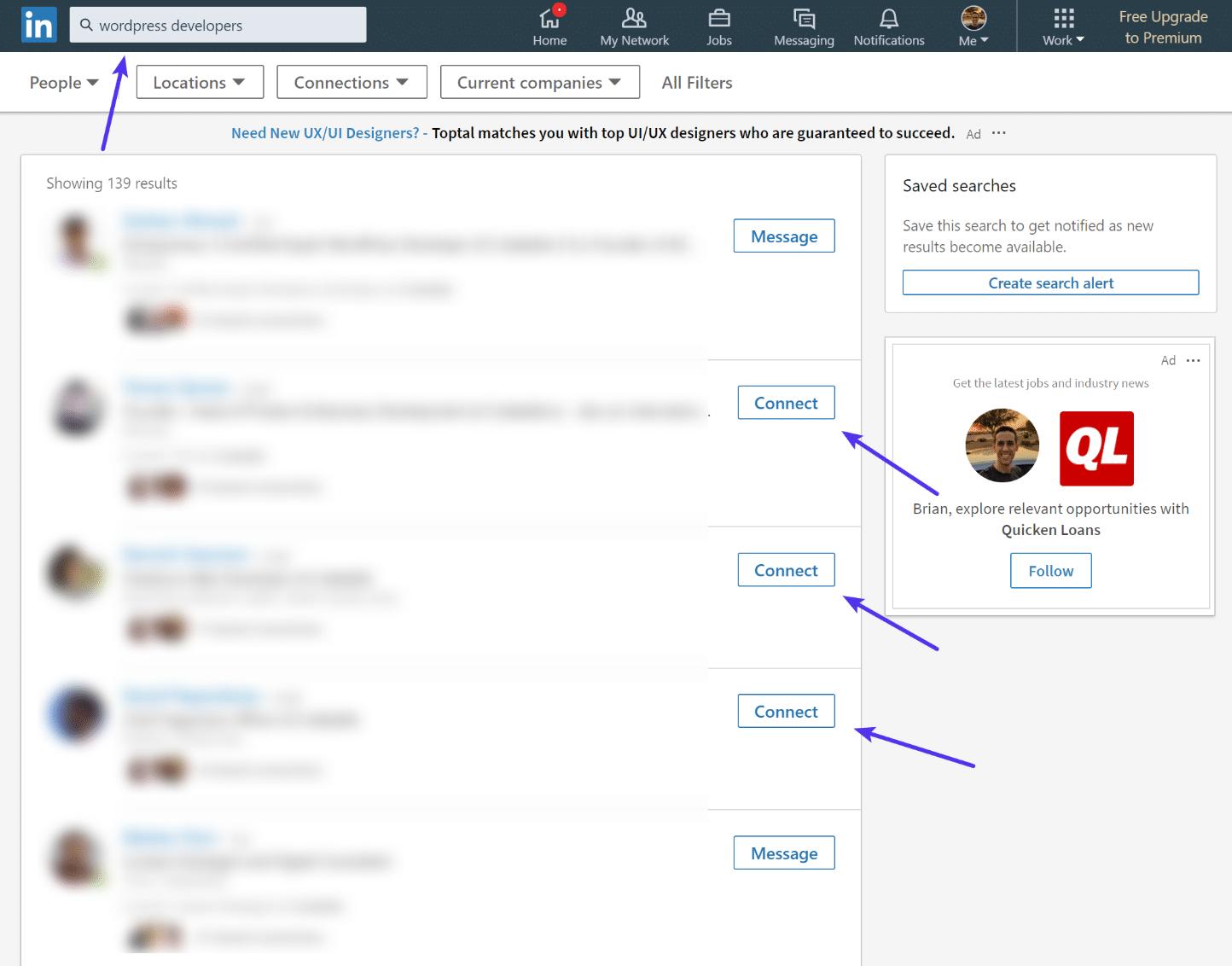 Nieuwe connecties in LinkedIn