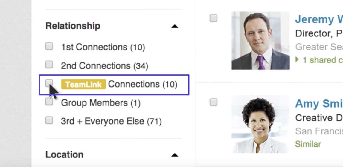 Teamlink connecties