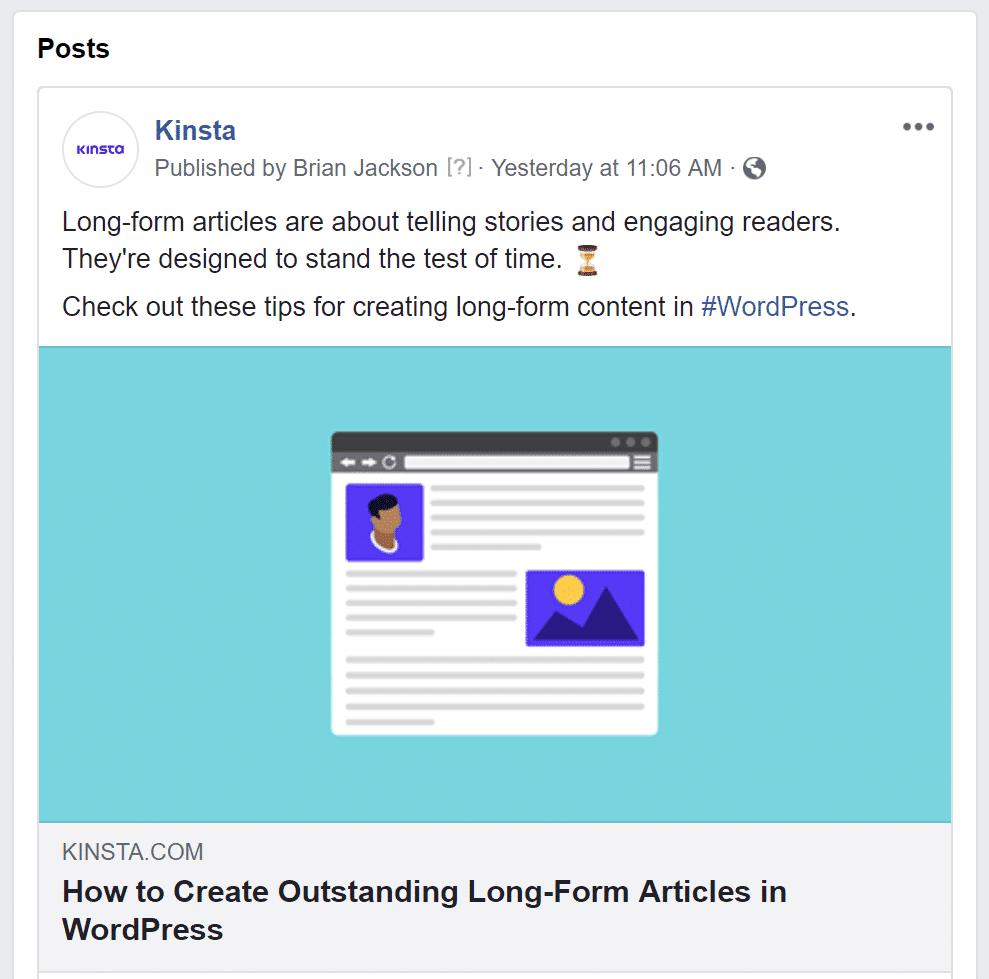 Facebook afbeelding bij een link