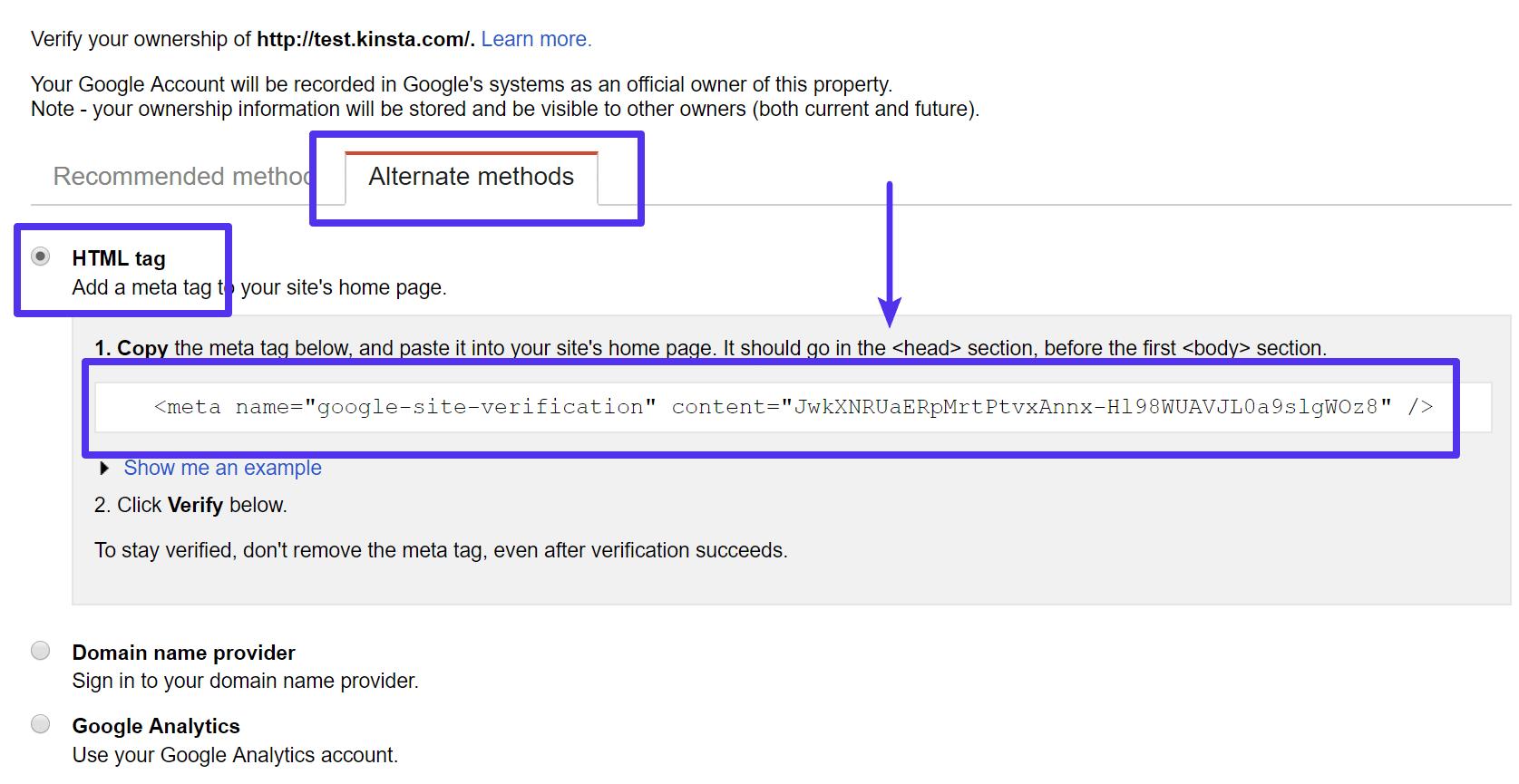 Waar vind je de Google verificatie code