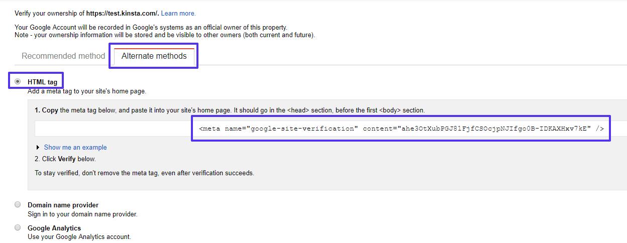 De HTML meta-tag