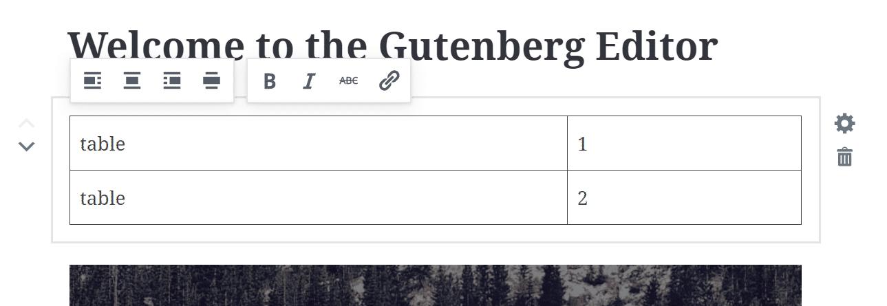 Gutenberg tabellen