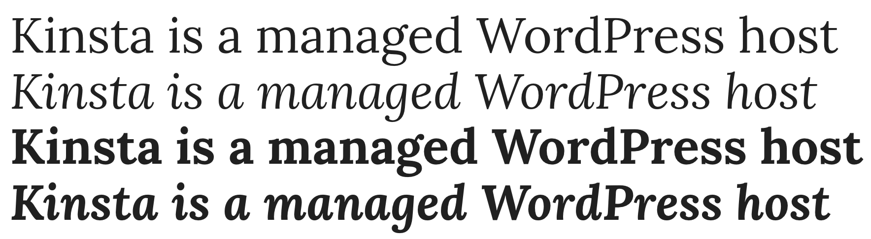Lora Google font