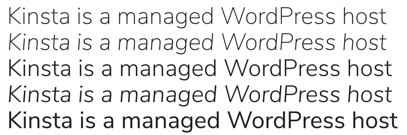 Nunito Sans Google font