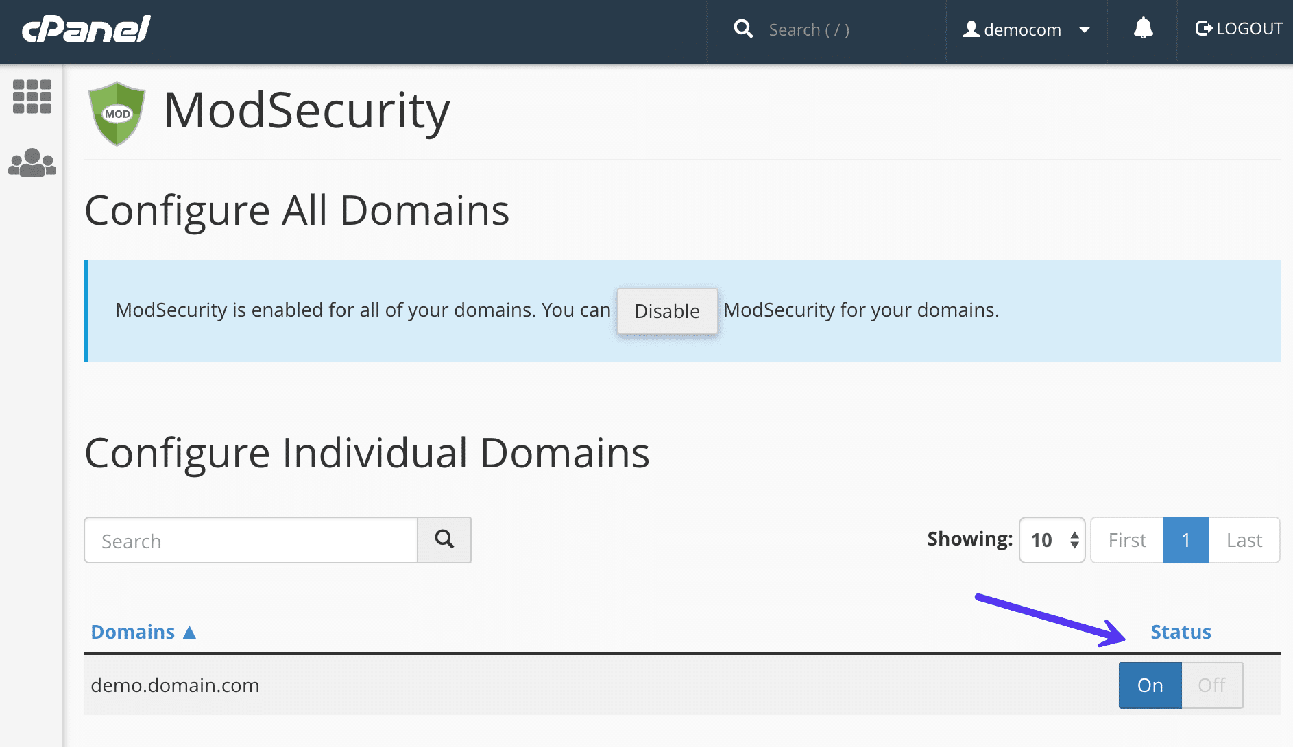 Mod_security uitschakelen
