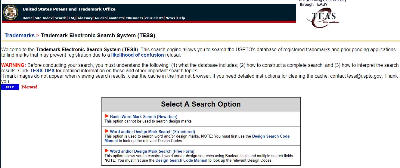 Patent en Trademark Office van de Verenigde Staten