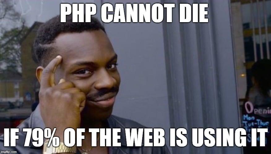 PHP kan niet doodgaan