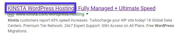 Google advertentie
