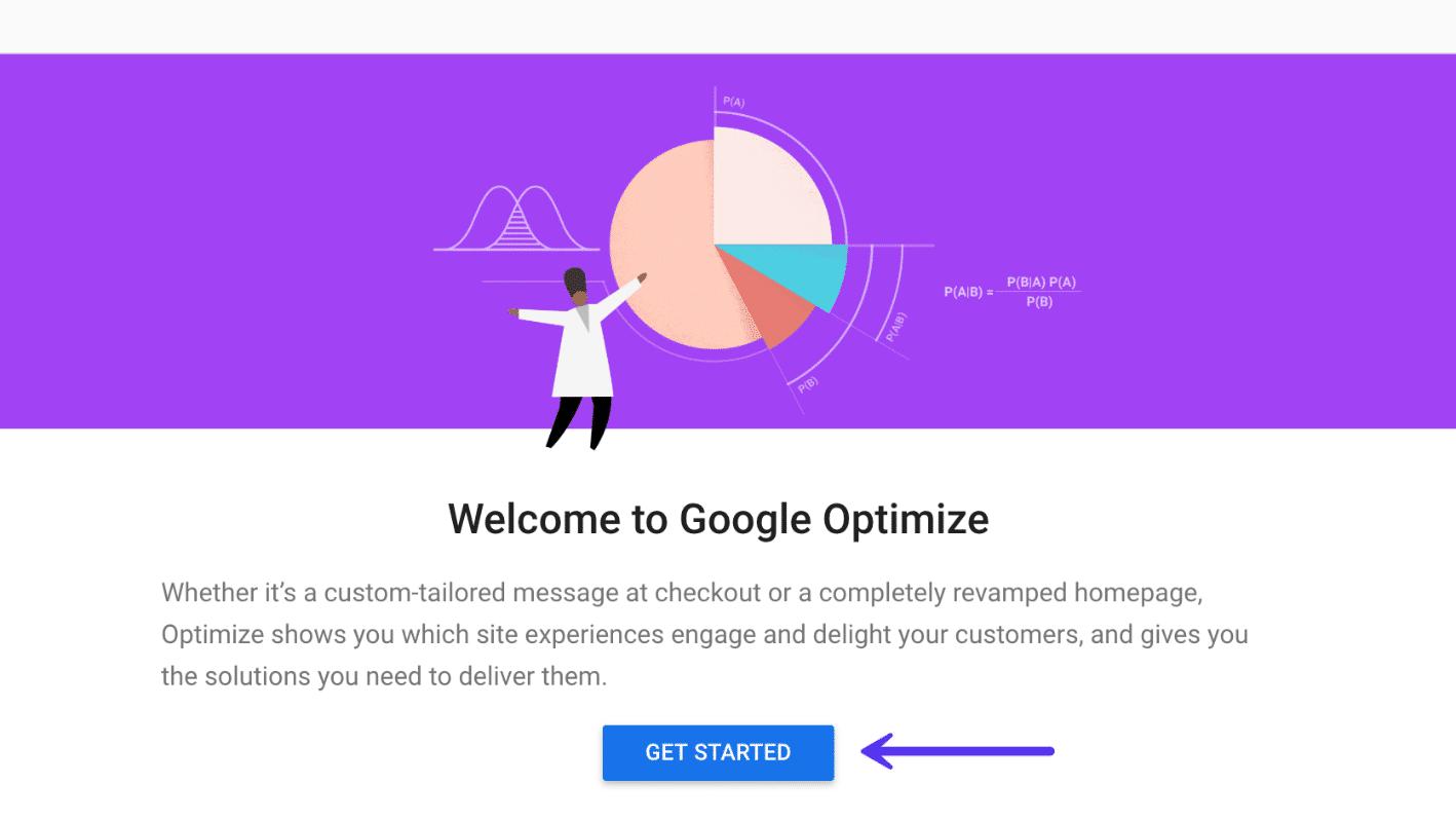 Van start met Google Optimize
