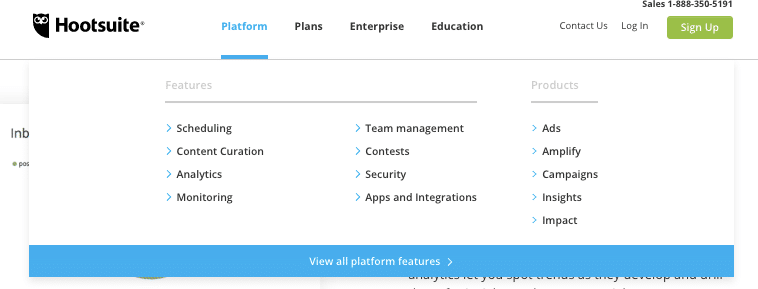 Platform en Plans voorbeeld