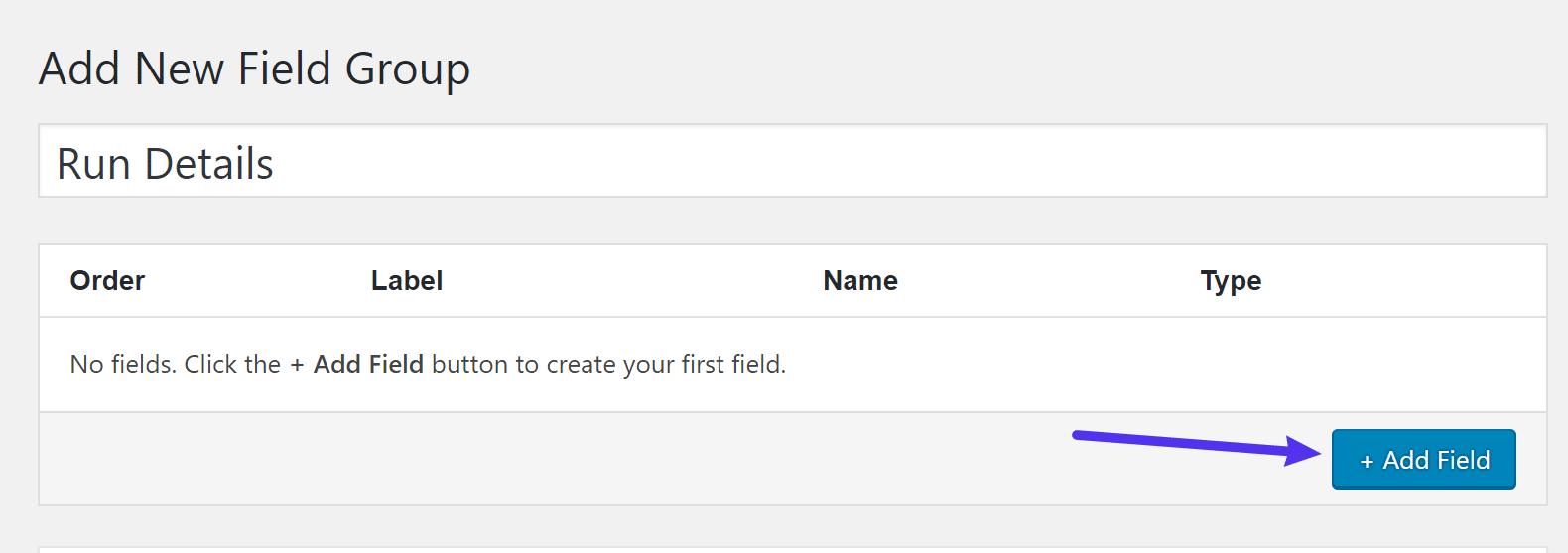 Een nieuw veld toevoegen
