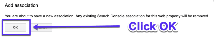 Bevestig Google Search Console in Google Analytics