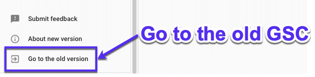 Terug naar de oude Google Search Console