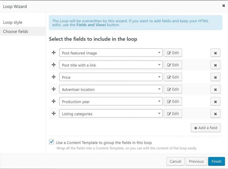Instellen van de filters voor de zoekresultaten