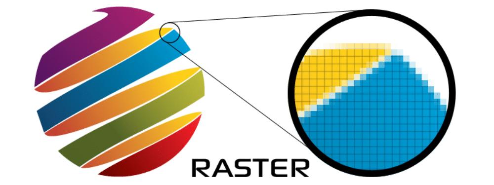 jpg vs jpeg: voorbeeld van een rasterafbeelding