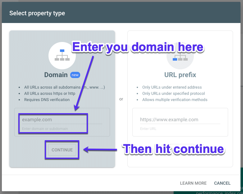 Je domein toevoegen aan Google Search Console