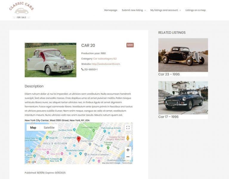 Voorbeeld van een directory website op WordPress