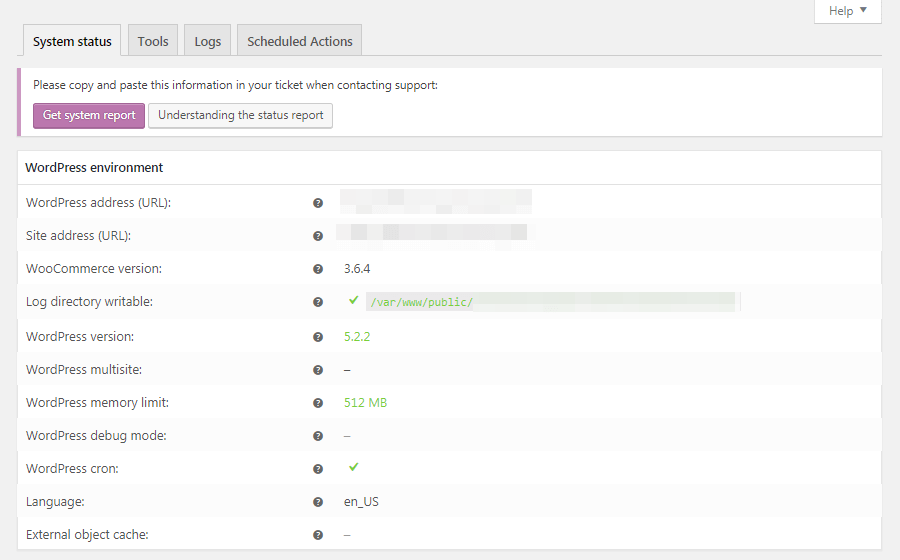 Tabblad Status in WooCommerce