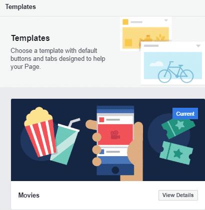 Facebook-sjablonen