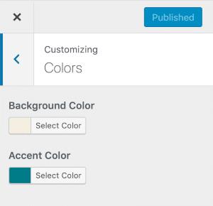 Twenty Twenty: customizer kleur