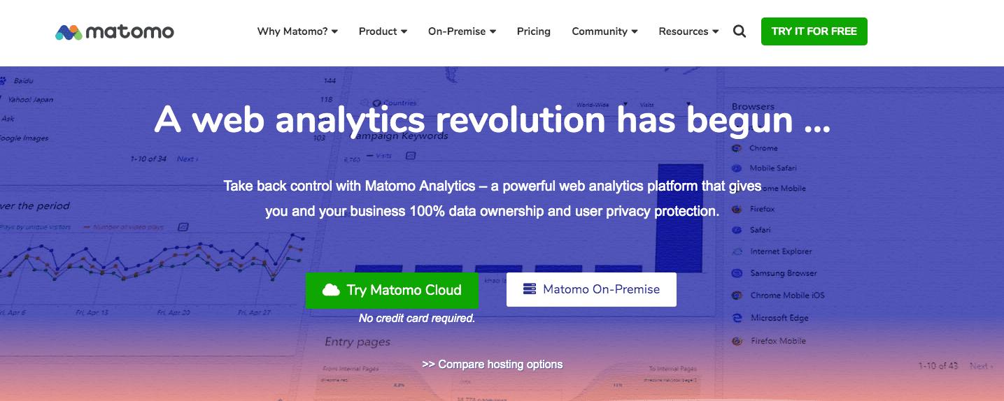 Google Analytics alternatives: matomo