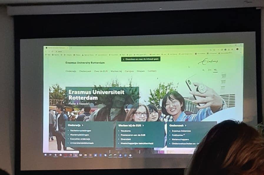 Afbeelding van sheet in presentatie - toegankelijkheid eur.nl