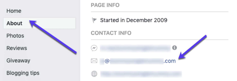 Vind e-mails op Facebook