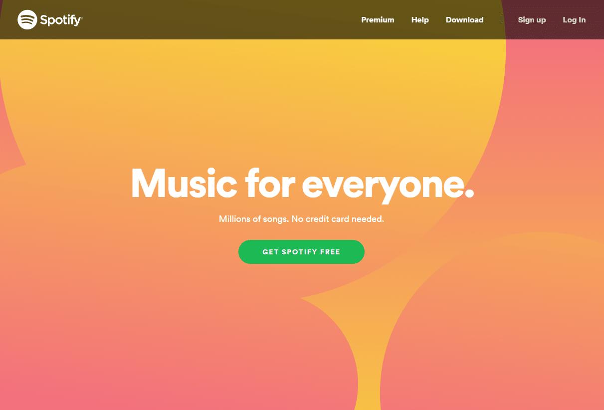 Gewaagde kleuren spreken boekdelen (bron: Spotify)