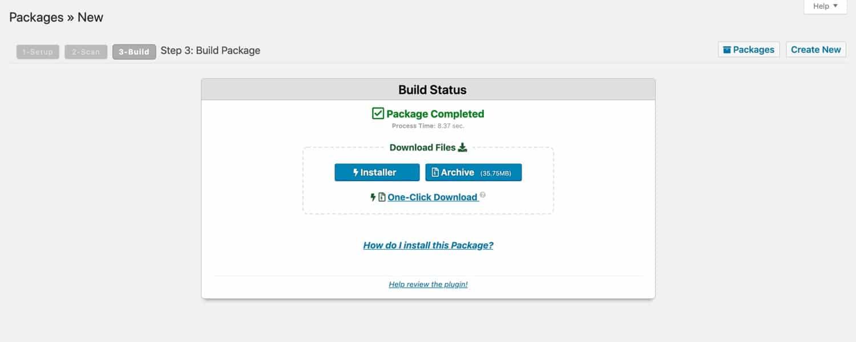 Je pakket downloaden