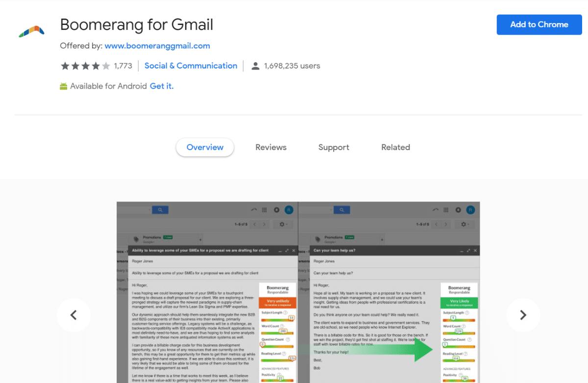 Boomerang voor Gmail