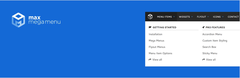 Max Mega Menu WordPress plugin