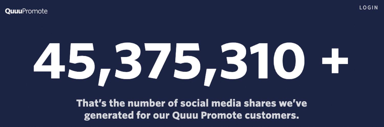 Quuu Promote kan je helpen een hoop social shares te krijgen