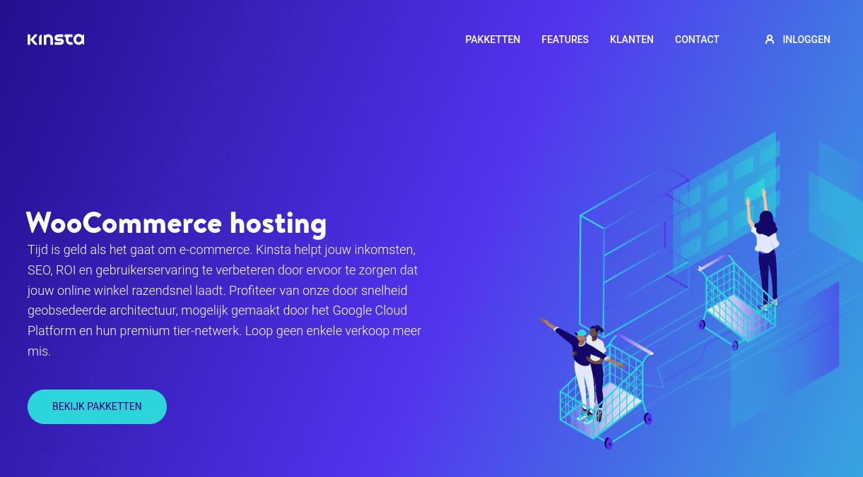 WooCommerce hosting bij Kinsta
