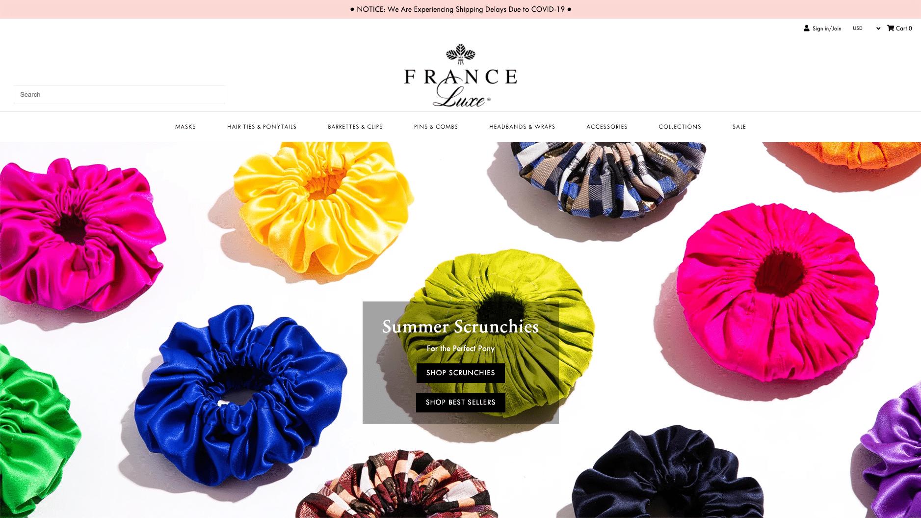 France Luxe, mode accessoires.