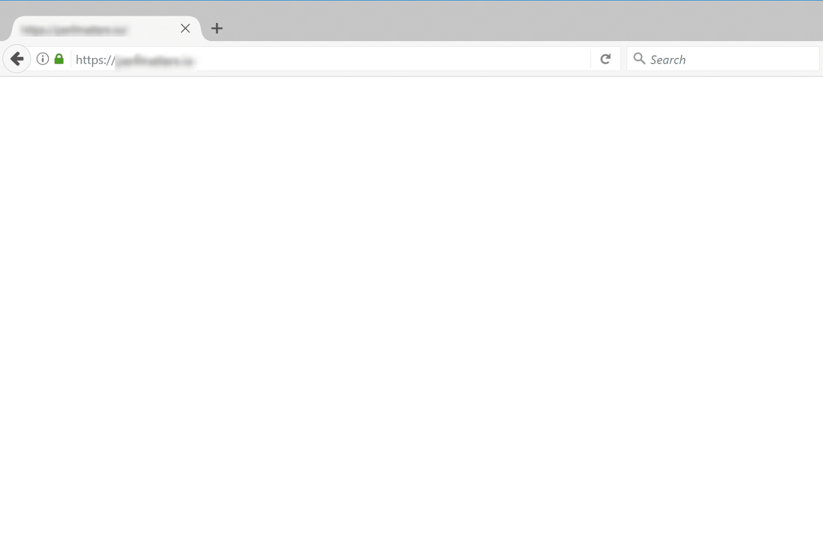 Het WordPress WSoD in Mozilla Firefox