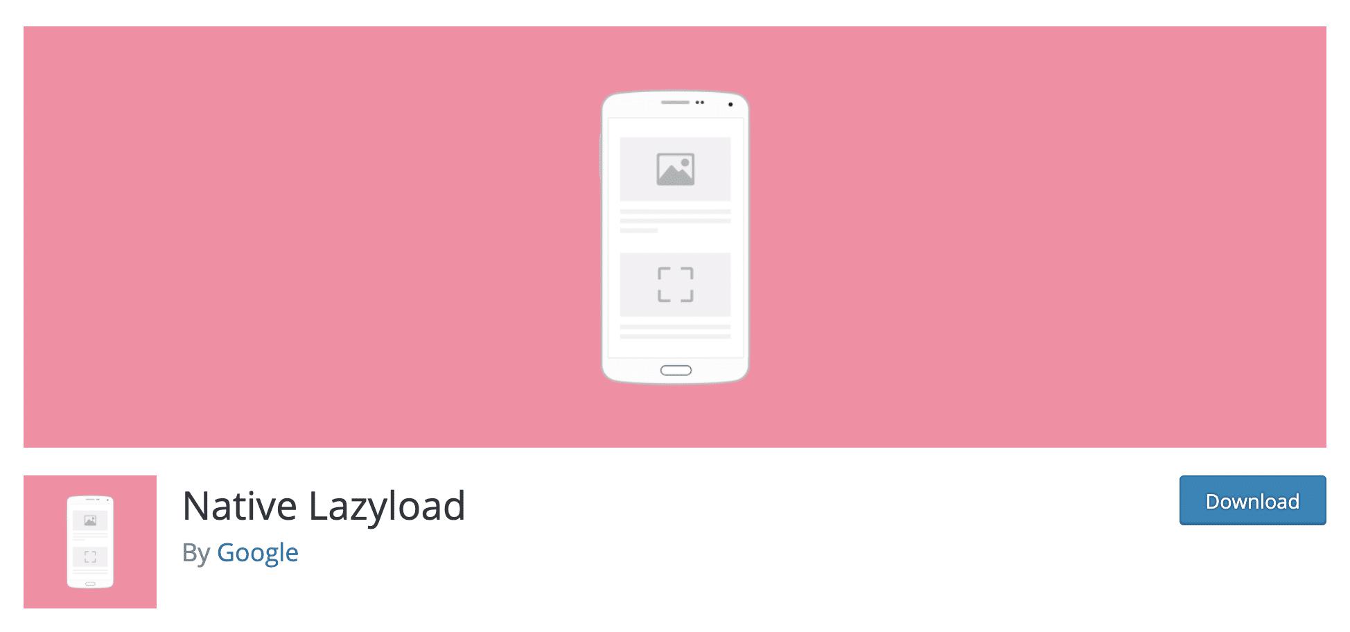 Google Native Lazyload plugin.