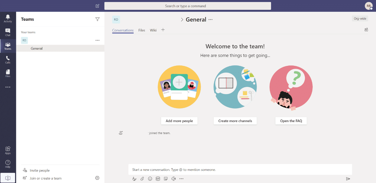 microsoft teams interface