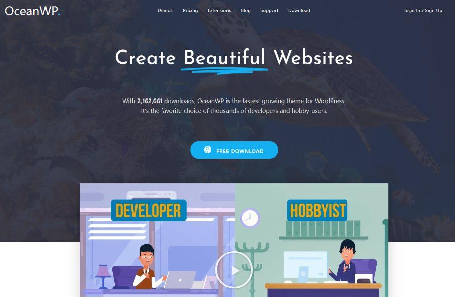 ocean wp - WordPress membership theme