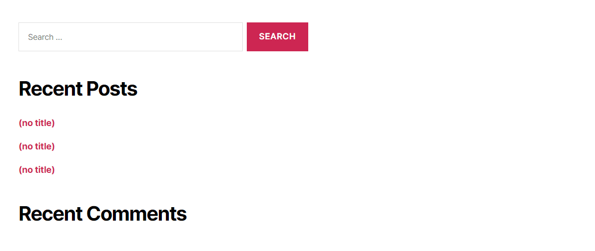 Voorbeelden van geen titels in een widget.