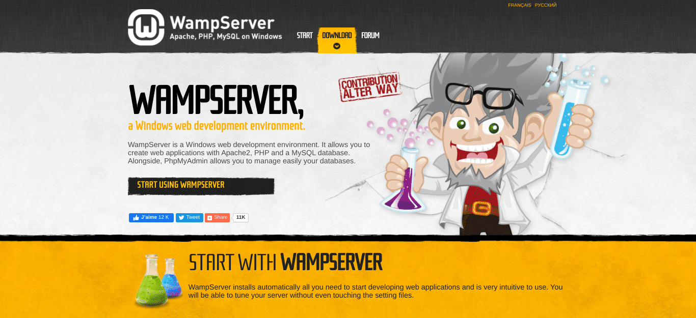 De WampServer website
