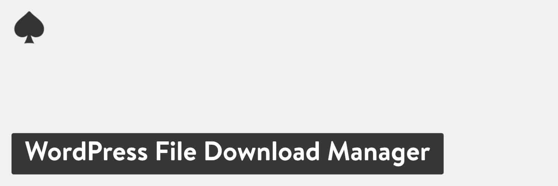 WordPress File Download Manager plugin