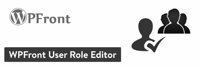 De 'WPFront User Role Editor' plugin