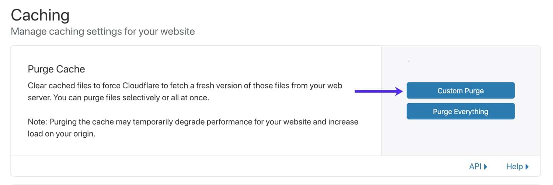 Cloudflare-cache wissen.