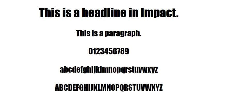 Voorbeeld van Impact