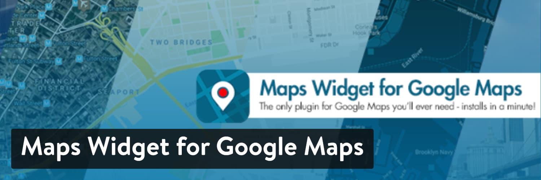 Maps Widget for Google Maps plugin - WordPress map plugin