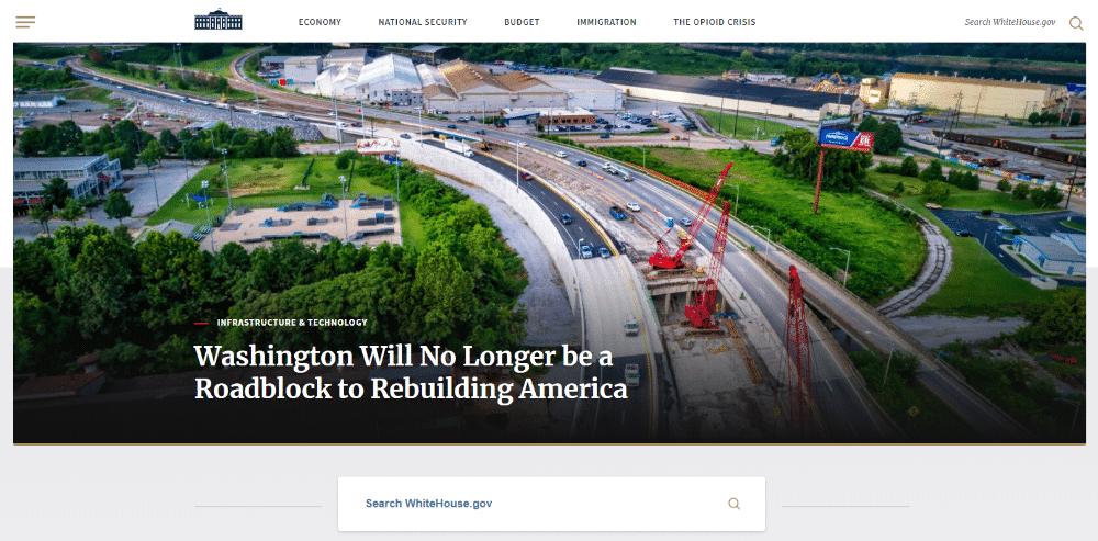 Whitehouse.gov is aangedreven door WordPress