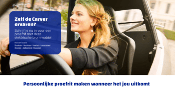 Screenshot van website Carver